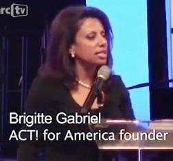 Brigitte Gabriel microphone